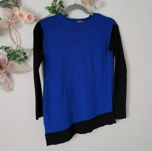Vince Camuto asymmetrical knitted crewneck sweater
